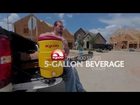 Video Igloo 400 Series 5-Gallon Beverage Cooler
