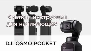 DJI Osmo Pocket - краткая инструкция для начинающих (на русском)
