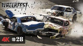 OVAL APOCALYPSE - Wreckfest Racing Onboard 4K - V8 THUNDER - PRO INTERNATIONALS #28