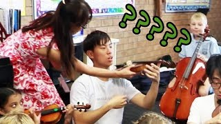 We Go Back to School and Join a Beginner's Strings Class