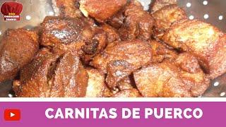 CARNITAS de PUERCO receta facil- Complaciendo Paladares
