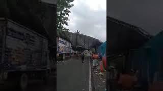 Lluvias derriban puesto de control en Jutiapa