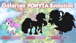 Galarian PONYTA - RAPIDASH & Mega Evolution | Galar Form Pokemon Fanart