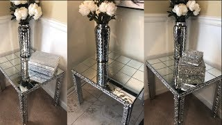 Dollar Tree DIY || Mirrored End Table || Decorating Ideas 2019