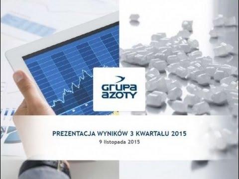 Prezentacja wyników finansowych Grupy Azoty za IIIQ 2015 - zdjęcie