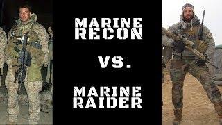 DIFFERENCE BETWEEN MARINE RECON & MARINE RAIDERS