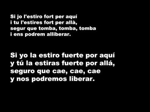 Lluis Llach   L'estaca Letra en Catalán y en Castellano.wmv