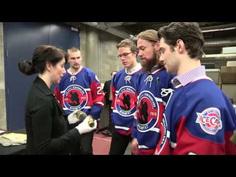 IceCaps Players Check Out War Artifacts - Part 1 of 3
