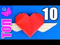 ТОП 10 Оригами из бумаги - Валентинки