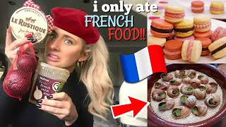 British girl ONLY ate FRENCH food for 24hours!!