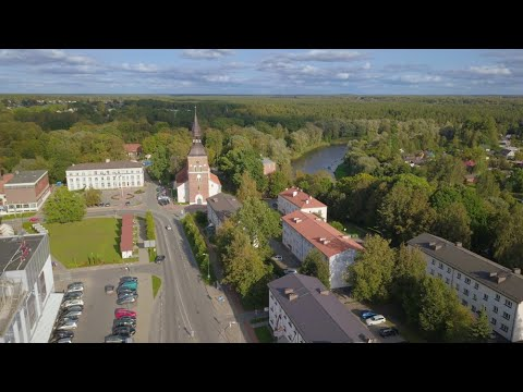 Valmiera bird's eye view
