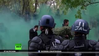 Насилие в ходе протеста против Ле Пен в Париже: полиция применила слезоточивый газ