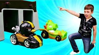 Гонки на машинах: соревнования Энгри Бердз. Видео для детей