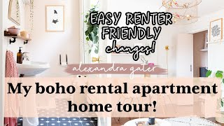 My Cozy Rental Apartment Home Tour! | Boho Eclectic Style