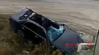 В Приморье Тойота Краун после аварии превратилась в Кабриолет