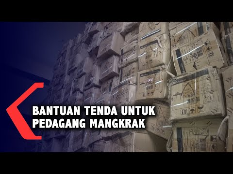Bantuan 1.223 Tenda untuk Pedagang Terdampak Pandemi Mangkrak dan Belum Didistribusikan