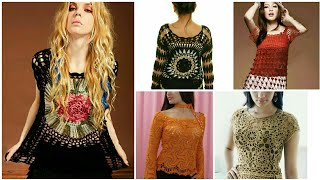 Trendy Fashion Hand Knitted Crochet Hairpin Lace Pattern Top Beggie Blouse/boho Fashion Vest Top