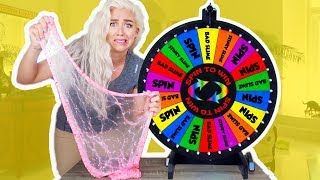 Mystery Wheel of Slime! SPIN WHEEL CHALLENGE GAME! | NICOLE SKYES