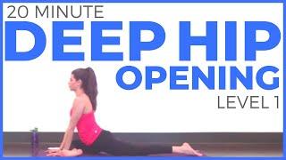 20 Minute Deep Hip Opening Yoga Practice | Sarah Beth Yoga