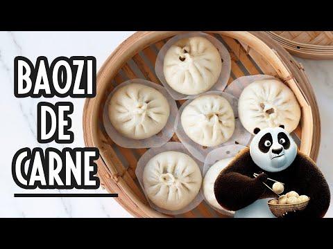 Pan chino relleno al vapor (Baozi de carne) | bollos chinos | Baozi recipe | Steamed Meat Buns