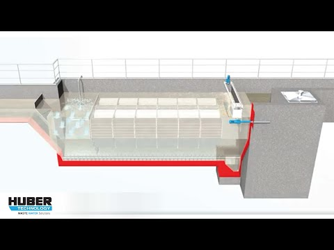 Animation: Function of HUBER Grit Trap GritWolf®