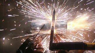 Arc Welder Destroys Cans
