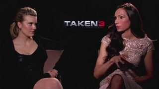Maggie Grace & Famke Janssen Interview - TAKEN 3 (2015) JoBo.com Exclusive HD