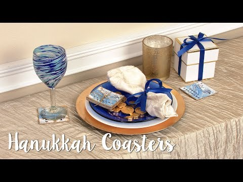 How to Make Hanukkah Coasters!