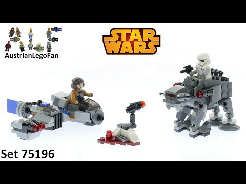 Vidéo LEGO Star Wars 75195 : Microfighter Ski Speeder vs. Quadripode du Premier Ordre