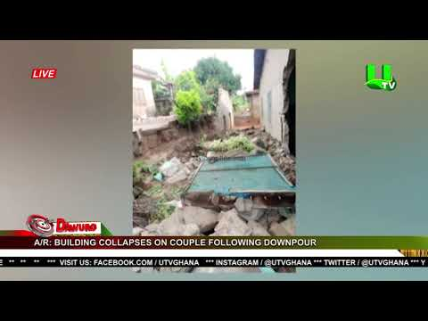 A/R: Building collapses on couple following downpour