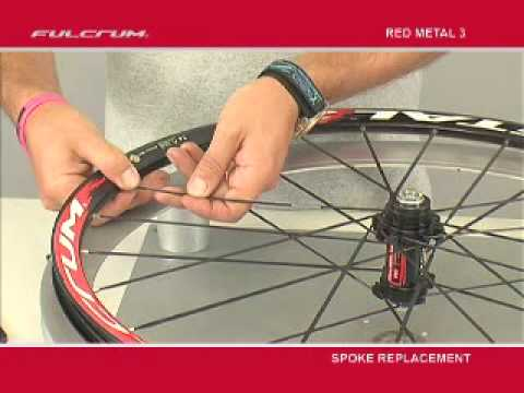 Fulcrum Red Metal 3 Wheels - Spoke replacement