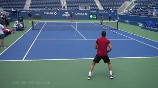 Grigor Dimitrov v. Dominic Thiem, 2019 US Open practice, 4K