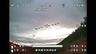 Babyhawk Test, FPV, 18.08.2020, DVR