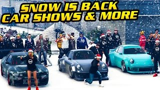 GTA Online: SNOW IS BACK + WINTER THEMED CAR SHOWS, SLEDDING & MORE