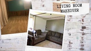 LIVING ROOM MAKEOVER / MOBILE HOME