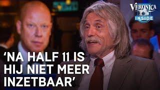 Johan lacht om dronken Frits Wester: 'Na half 11 is hij niet meer inzetbaar'   VERONICA INSIDE
