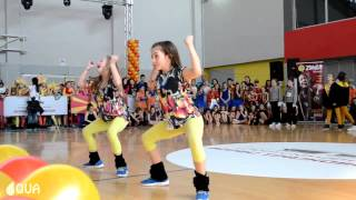 AQUA - Hip Hop Duo Kids 1st Place / Elena & Ivona - International Macedonia Open 2014