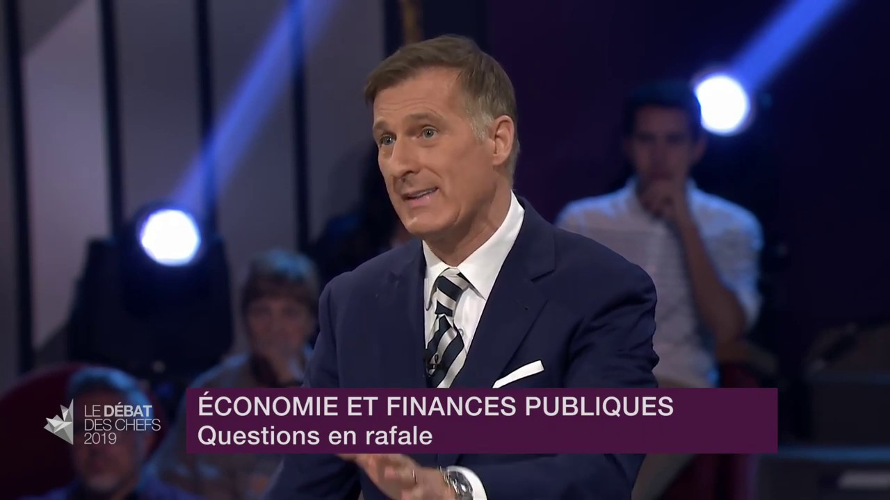 Maxime Bernier answers a question about concerns over supply management