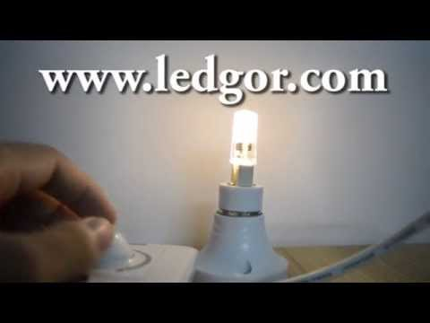 Silicone Seal Dimmable G9 led pygmy bulb lamp 3Watts 360 beam angle 230V 2700K   Ledgor