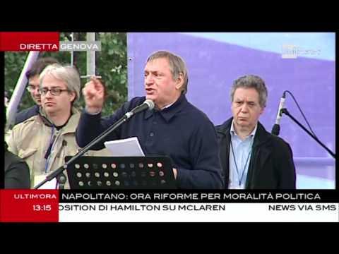 immagine di anteprima del video: L´intervento di Don Ciotti a Genova