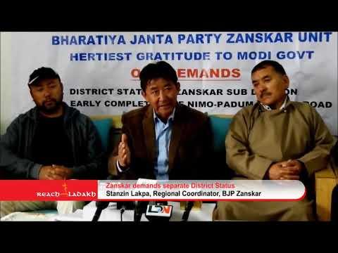 Zanskar demands separate district status
