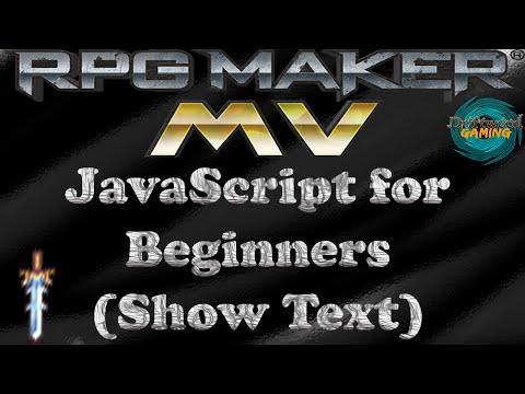 RPG Maker MV Tutorial Javascript for Beginners (Show Text)