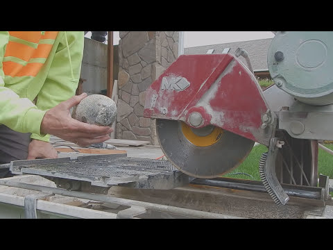 Cutting open some Geodes with a MK 10 inch tile saw