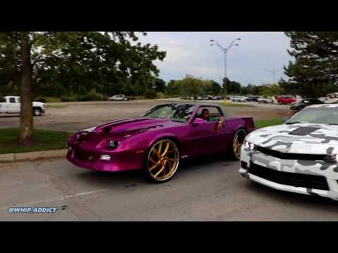 WhipAddict: Kandy Purple Camaro IROC Vert Back With New LSX Motor, Smashin On Gold 26s