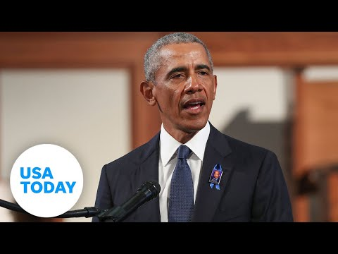 Barack Obama remembers 'hero' John Lewis in emotional eulogy (FULL SPEECH) | USA TODAY