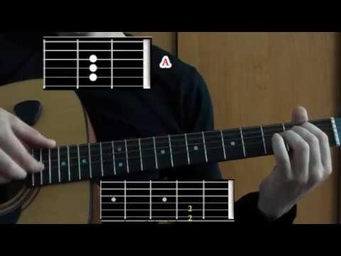 Как играть Ленинград - Отпускная (УРОК на гитаре: схема боя и табулатура + аккорды) Leningrad
