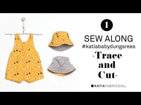 DIY COSTURA ✂ Katia baby dungarees | Calcar y cortar el patrón