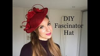 How To Make A Fascinator Headpiece, DIY Disc Hat - Millinery Craft Making Tutorial