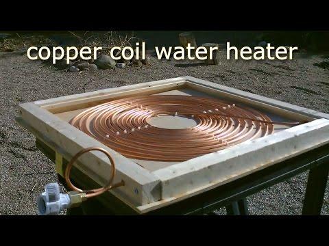 DIY Solar Water Heater! – Solar Thermal COPPER COIL Water Heater! – Easy DIY (Full instr.) 170F