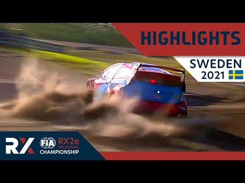 世界ラリークロス 第2戦スウェーデン(ホーリエス)2021年 RX2eクラスの決勝ファイナルのハイライト動画